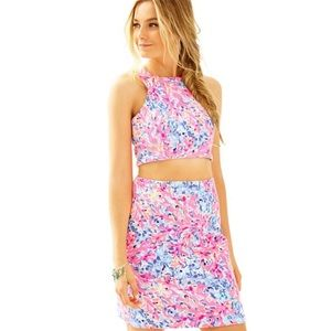 Lilly Pulitzer Mallika Crop Top & Skirt Se…